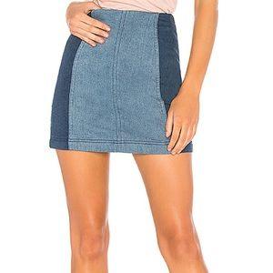 Modern Femme Skirt ~ two-tone denim
